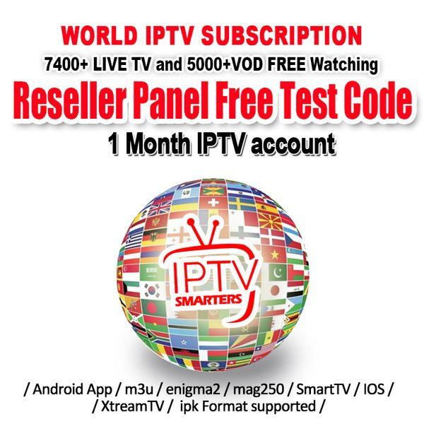 Mundo Iptv Smarters con una suscripción de 1 año que cubre más de 7000 en vivo España Francia Reino Unido Italia Abonnement Iptv para Smart TV M3u Mag Box