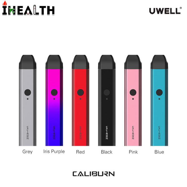 Orijinal UWELL CALIBURN kiti 11 W Taşınabilir Vape kalem POD Sistemi Kiti Dahili 520 mah ile 2 ml Pod Kartuş Beraberlik-aktive mekaniz ...