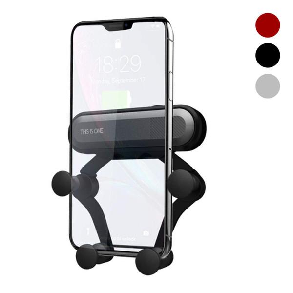 Support de gravité pour voiture pour téléphone Clip pour ventilateur de voiture pour téléphone Pas de support de téléphone portable magnétique Support GPS pour iPhone XS MAX Xiaomi