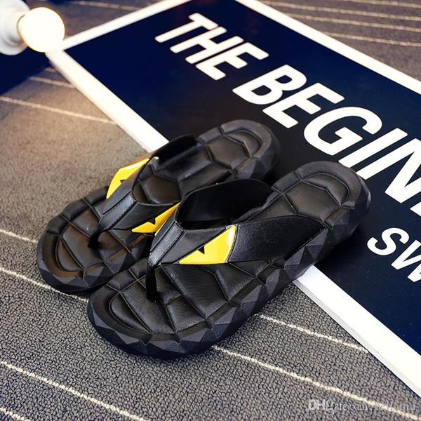 2019free shipping Flip Flops Men Sandals Shoes For Casual Walking Beach Slides EVA Massage Slippers Designer Flats Male Summer Mens Shoes