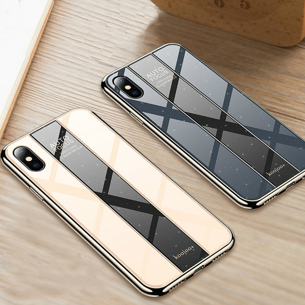 Применимо к Apple iPhone X XS Max XR Чехол для iPhone 6s 6 7 8 plus Чехол для телефона Прозрачный и прочный роскошный стеклянный флэш-чехол