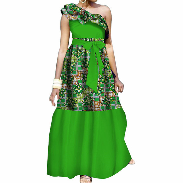 Plus Size Summer Dresses Women 2019 Traditional African Fashion Clothing  Africa Wax Dashiki Long Cotton Dress Natural 7xl WY3503 Cheap Evening Dress  ...