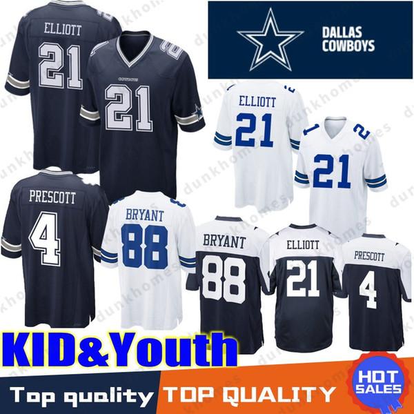 newest 70d60 7a9b0 4 Dak Prescott Dallas Jersey Cowboys 21 Ezekiel Elliott 88 Dez Bryant 9  Drew Brees Top Quality 2019 New Stitched KID YOUTH Jerseys UK 2019 From ...