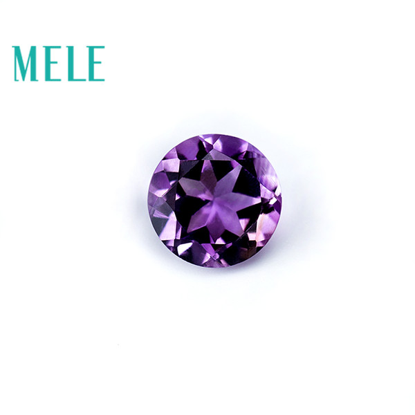 Top quality Brazil natural amethyst,9mm 2.4ct round brilliant cut gemstone for jewelry making,DIY loose stone