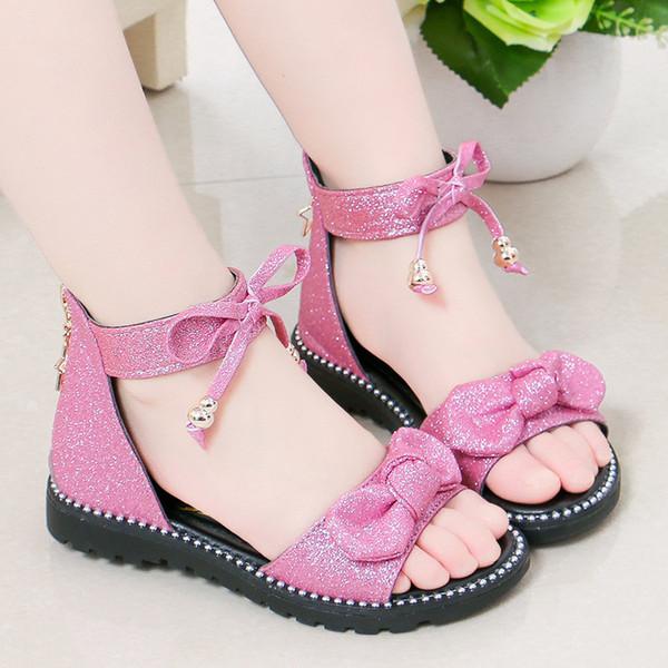 Children's Infant Kids Fashion Crochet Sandals For Girls Summer Heels Children Rome Baby Soft Bottom Girl Small Princess Shoes