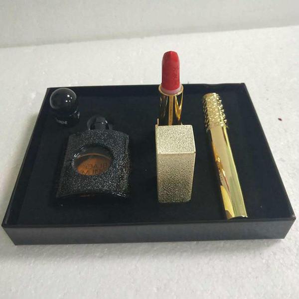 Newest Makeup Set Perfume Mascara Lipstick Beauty Edition 3 in 1 Y Brand Makeup Kit J2108