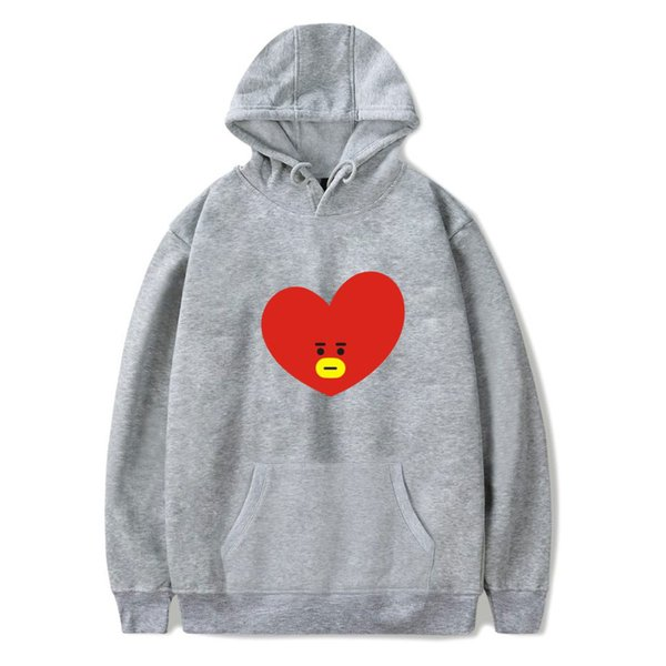 BTS Love Yourself Hoodies Sweatshirts K-pop Women Bangtan Cartoon Mens Hoodie Sweatshirt Kpop Popular Idol bts XXS-4XL Clothes