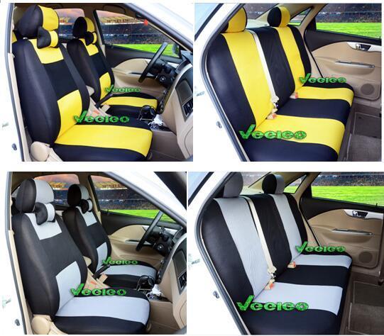 Universalsitzabdeckung für Ford Focus Mondeo Chiax Fiesta mit Sandwich Meterial + Logo + Wholesale + Free Verschiffen