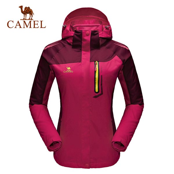 CAMEL Women's 3 In 1 Winter Fleece Softshell Jacket Outdoor Sports Coats Skiing Trekking Hiking Camping Female Jackets