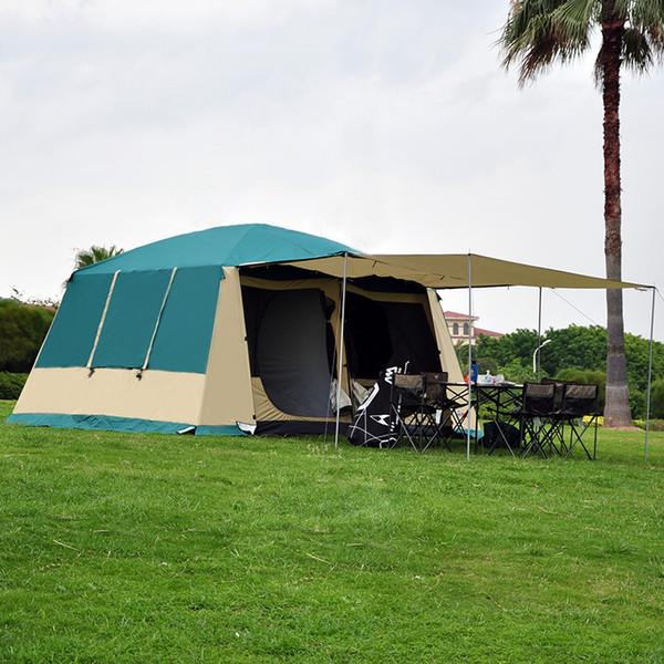 Barraca de Acampamento Ao Ar Livre Grande 10-12 Pessoas de Luxo de Alta Qualidade Família / Festa 2 Quarto 1Hall Barraca de Acampamento Ao Ar Livre
