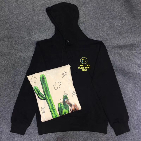 Hip Hop Travis Scott Astroworld Männer Frauen Casual Genießen Sie heute Kaktus Hoodie Pullover Weinen Sie nicht über verschüttete Milch Sweatshirts