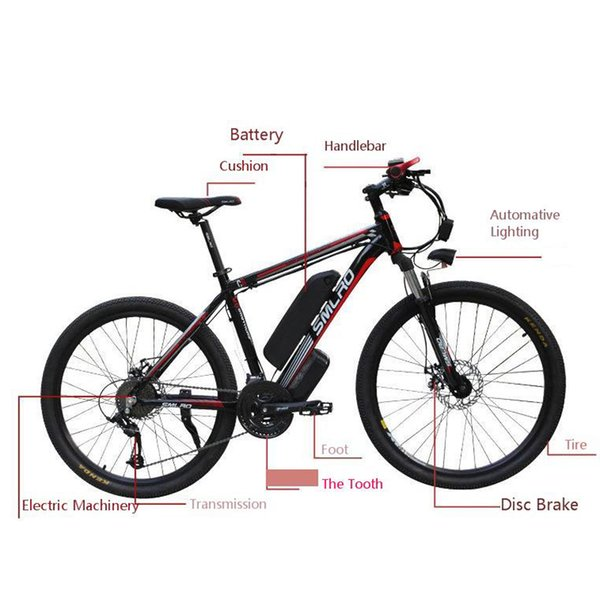 top popular wholesale Lithium Battery Mountain Motor-driven Bicycle electric fat bike 26 inch 48V 10AH 500W 27 Speed bicicleta electrica qicycle 2020