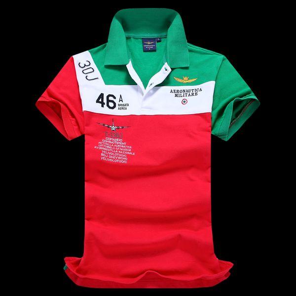 2017 Nuevos hombres Army Embroidery s Shirts Moda patchwork Golf hombres Tees s Hiphop Horse Camisetas para hombre