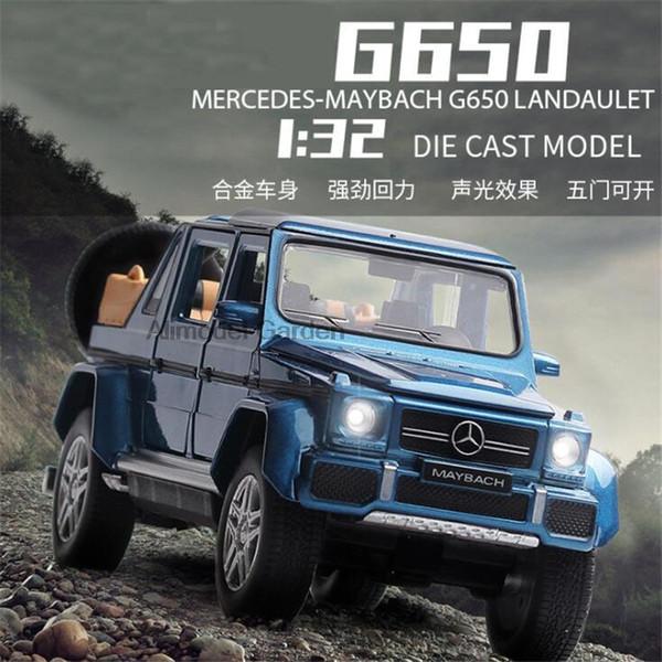 Novo 1:32 Maybach Benz G650 Liga Modelo de Carro Diecasts Toy Vehicles Toy Cars Frete Grátis Kid Brinquedos Para Crianças Presentes menino