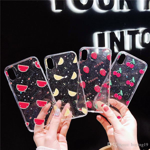 Drop gum fruit Summer phone Case For Iphone xr max xs 5 6 7 8PLUS X TPU cases hard shell back cover anti fall Shell FOR HUAWEI PHONE CASE