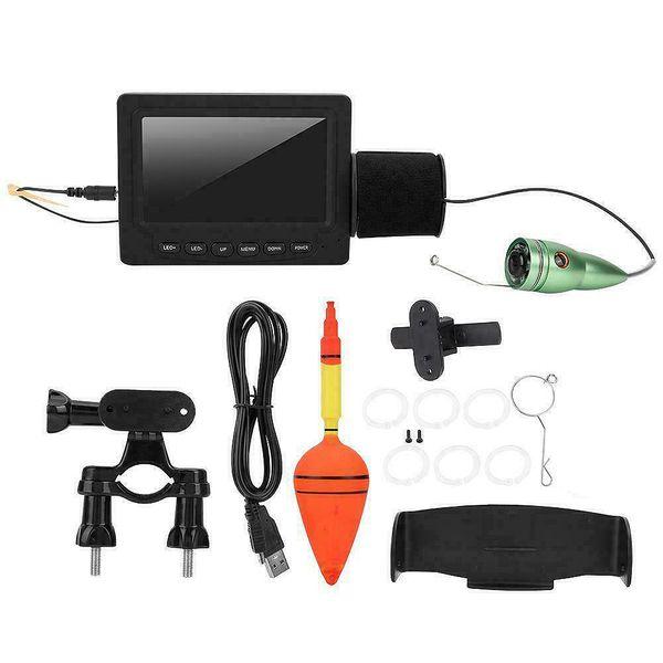 Détecteur de poissons sous-marins Caméra vidéo de pêche sur glace Moniteur LCD Caméra de nuit Fishfinder