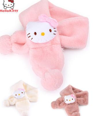b22cb2d24 Children scarf Kitty Cat's Furry Neck Warmth Babies and Girls Soft and Thick  Cartoon Children Sprouting