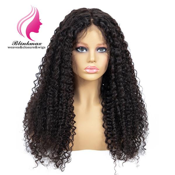 Pelucas delanteras del cordón del rizo rizado del pelo brasileño de la Virgen del pelo 100% natural del pelo de Blinkmax