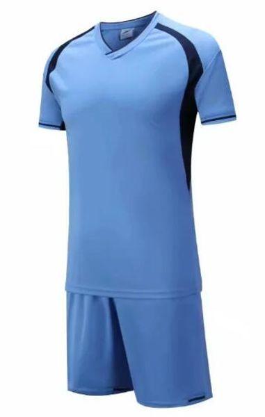 New arrive Cheap high quality soccer jersey soccer Football uniform kit No Brand uniforms kit Custom Name Custom LOGO blue