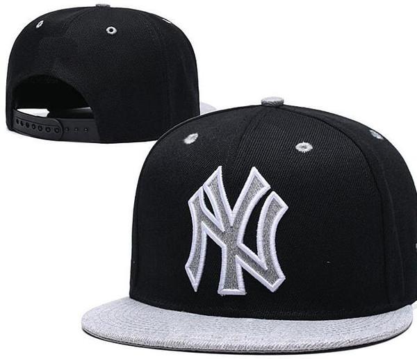 2020 Ucuz New York şapka NY Kap snapback Beyzbol Kapaklar kavisli Düz ağız Takım Boyutu topu Beyzbol Şapkası Kadın Erkek Klasik Moda Ücretsiz Gemi