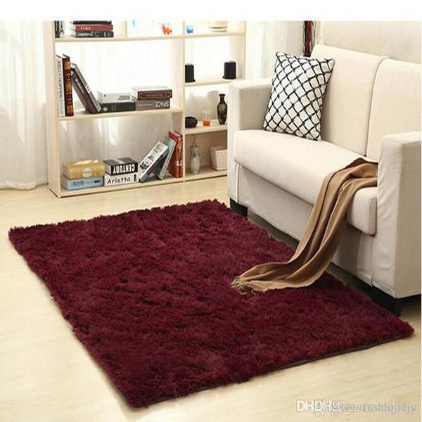 Non Slip Carpet Fluffy Rugs Anti Skid Shaggy Area Rug Dining Room Home  Bedroom Carpet Living Room Carpets Floor Yoga Mat Industrial Style Rugs  Carpets ...