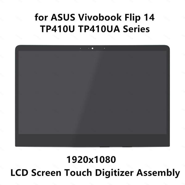 14.0 '' Full HD IPS LCD LEVOU Painel de Tela Sensível Ao Toque de Montagem do Vidro Digitador para ASUS Vivobook Flip 14 TP410U Série TP410UA
