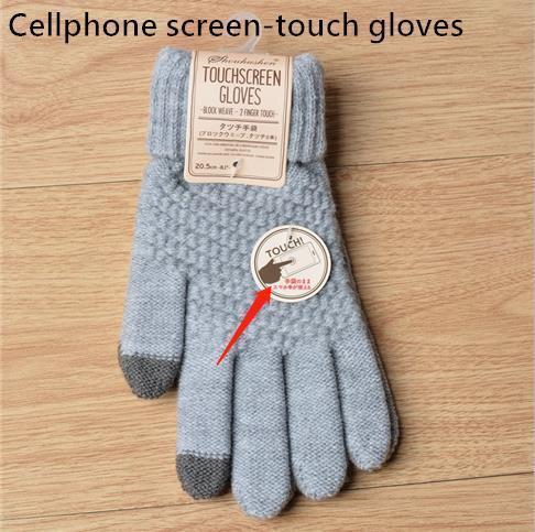 Dedo completo guantes cálidos baratos golves al por mayor al por menor guantes de acrílico teléfono móvil teléfono móvil guantes de pantalla táctil