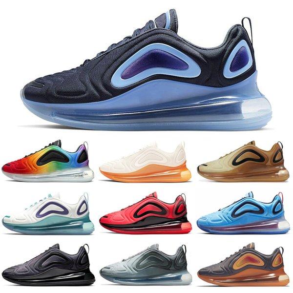 Nike Air Max 720 Tie-Dye Maglie iridescenti Donna Uomo Scarpe da corsa BETRUE Pride Carbon Grey Obsidian Spirit Teal Uomo Scarpe da ginnastica Walking Jogging Sport Sneakers