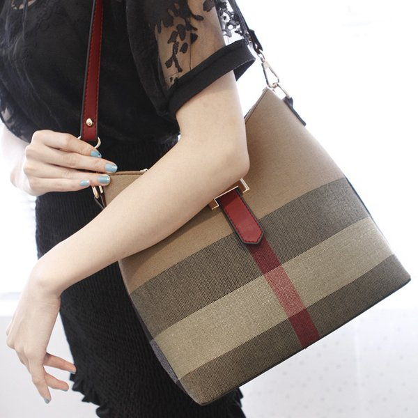 Top Luxury Designer Handbags Purses Fashion Canvas Shoulder Bags Large Capacity Women Crossbody Bags Two-tone Messenger Tote Bag s09