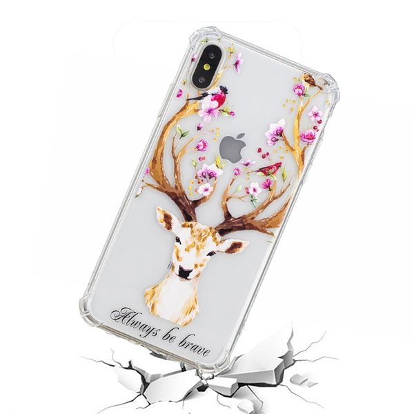 Mobile phone case 2019 new mobile phone shell tactile cartoon animal 1 varnish embossed anti-fall phone cover for iphone Huawei oppo Samsung