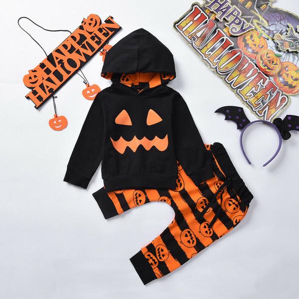Disfraces De Manga Compre Halloween Sudadera Capucha Tops Pantalones Camisa Niños Calabaza Larga Con Pequeños Estampado Para 1c3TKulFJ