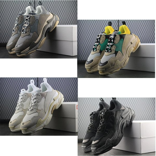 Date - BL Triple S 17FW Sneakers pour hommes, chaussures de course Vintage Kanye West Old Grand-père Trainer Sneaker chaussures de mode bottes de plein air 19