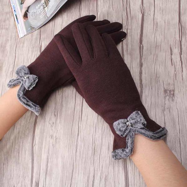Hohe Qualität Miya Mona Elegante Frauen Bildschirm Sinn Handgelenk Wolle Handschuhe Weibliche Schöne Bogen Handschuhe Mädchen Warme Winter Kaschmir Handschuhe S1025
