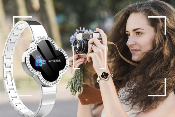 Yeni 2019 Moda Tasarımı Kadın Akıllı İzle S6 Akıllı Moda Bilezik Lüks Tansiyon Nabız Su geçirmez Spor Saatleri Coming