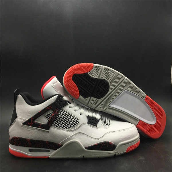 Top Quality 4 Hot Lava Man Designer Basketball Shoes New Custom IV White Black Light Crimson Pale Citron Fashion Sports Sneakers With Box