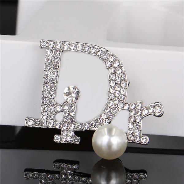 Broche de cristal creativo para la joyería de las mujeres vestido de los pernos de la ropa Rhinestone exquisito Bling Bling traje broche para fiesta Festival regalo