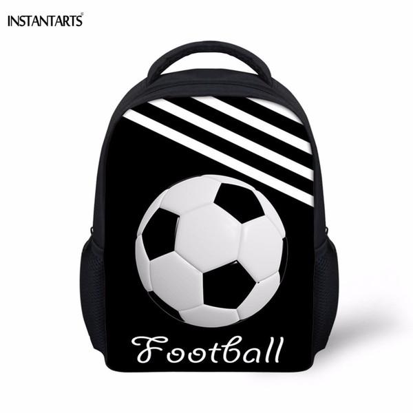 Instantarts Casual Kindergarten Students Small School Bags Cool 3d Soccerly/foot Ball Printed Boys Backpacks Children Schoolbags J190522
