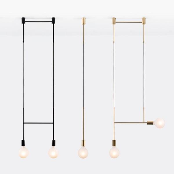 Amerikan Yaratıcı Cam Top Kolye Işıkları Demir Hoop Asmak Lamba Yatak Odası Cafe Restaurant Bar İç Aydınlatma Armatürleri Dekor için