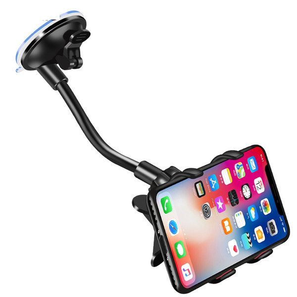 Phone Car Holder Flexible 360 Degree Rotation Car Mount Mobile Phone Holder For Smartphone Car Phone Holder Support GPS HHA99