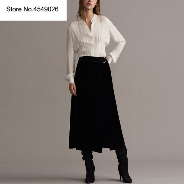 Skirt Suit Women Office Ladies Skirt Suits High Quality 2019 New Elegant Slim Waist Shirt Blouses+ A-line Skirts Suits Set H6824
