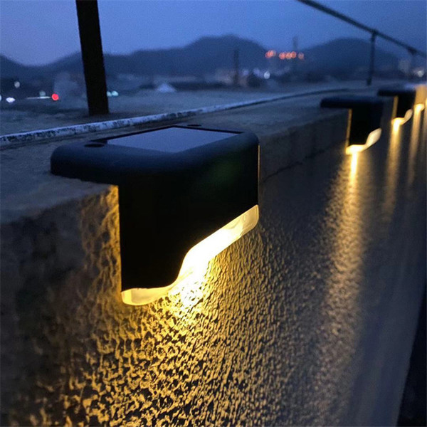 top popular LED Solar Deck Lights IP65 Waterproof Outdoor Garden Pathway Patio Stairs Steps Fence Lamps for Step, Stairs, Pathway, Walkway, Garden 2021
