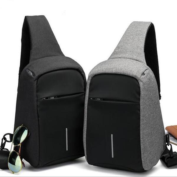 BAIBU Messenger Bag Men Shoulder Bags Casual Waterproof Anti-theft Oxford Men Chest Pack Women Cross Body Bags for Ipad