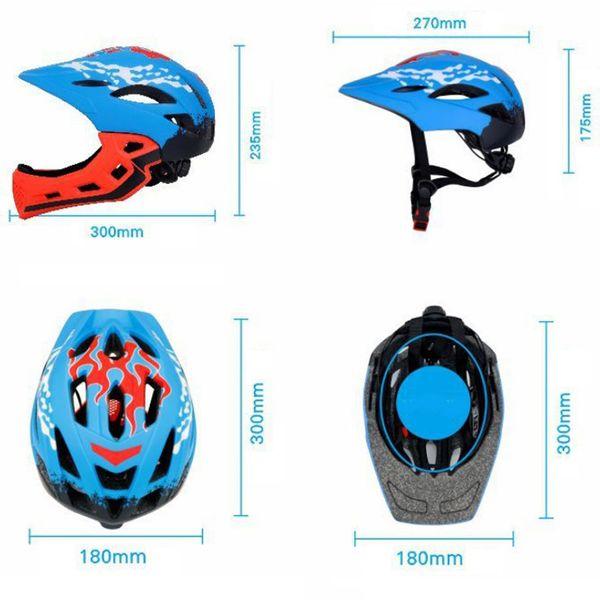 Full Covered Kid Helmet Balance Bike Children Full Face Helmet Cycling Motocross Outdoor Sports Downhill Skate Safety BMX