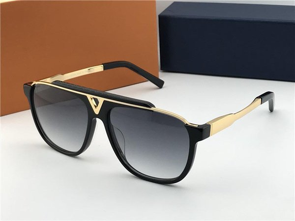 Luxo-designer de moda óculos de sol 0936 placa de metal combinada com o quadro de qualidade superior generoso estilo avant-garde com caixa de laranja