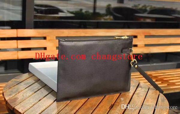 top quality designer luxury handbags purses designer men clutch bag Italy belt rivet clutch 8001 zipper black square leather wallet