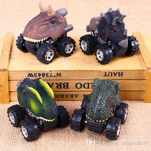 Niños inteligentes Juguete Triángulo del dragón miedo principal coche de inercia Coche de inercia Mini juguete para niños Volver 4 ruedas
