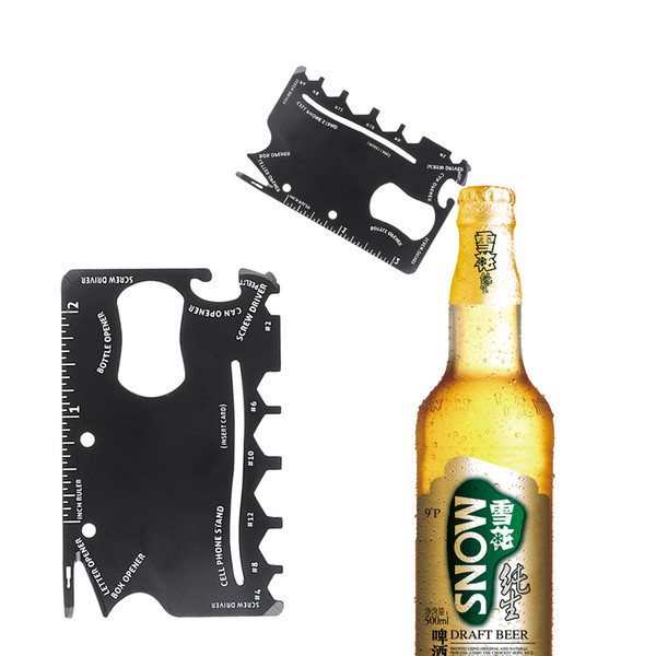18 en 1 Abrelatas de botella militares de la supervivencia del cuchillo táctico del cuchillo del abrelatas del acero inoxidable multifuncional para acampar