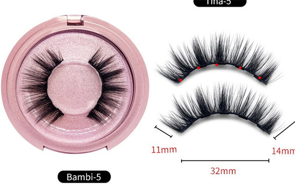 top popular Magnetic Liquid Eyeliner & Magnetic False Eyelashes & Tweezer Set Magnet False Eyelashes Set Glue Make Up Tools DHL free 2021