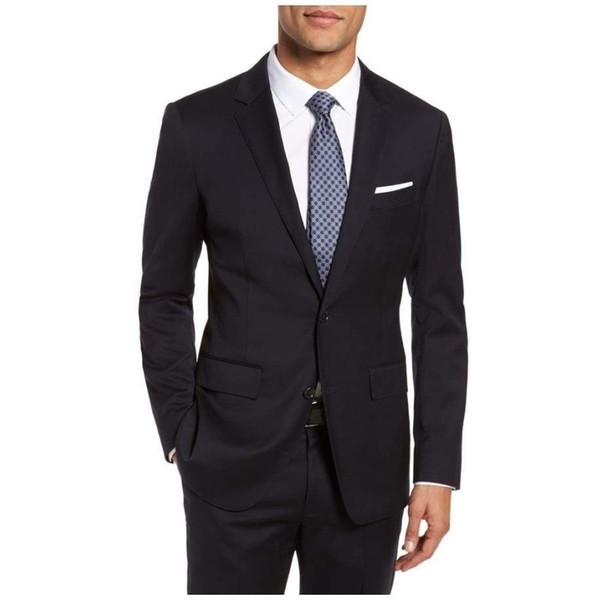 Classy Noir mariage Smokings 2020 entaillé Lapel deux boutons Hommes smoking Grooms mens blazer designer Three Pieces (veste + pantalon + cravate) de J263