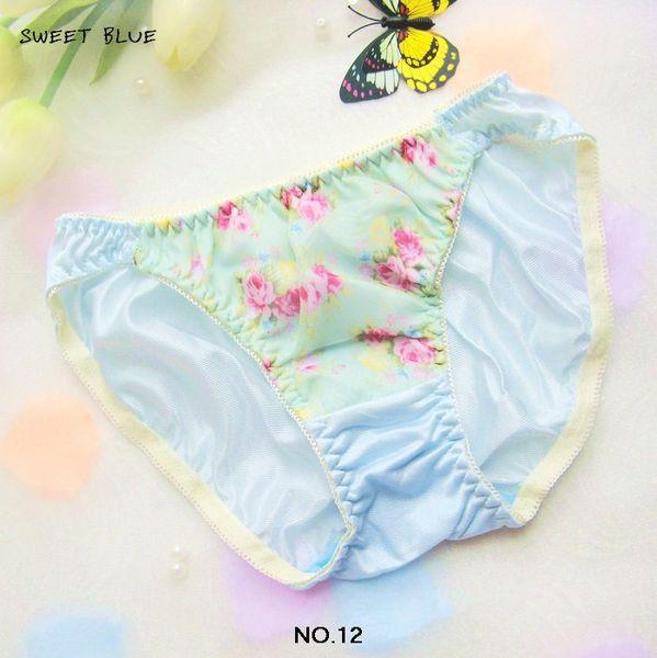 Japan underwear Broken beautiful elegant lovely briefs Light blue majtki damskie panties women string femme tanga mujer thongs